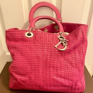 Authentic Dior woven soft Lady tote